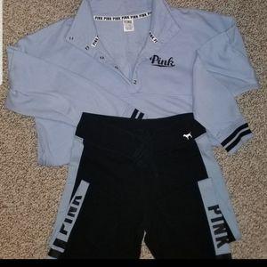 Victoria's Secret Yoga Pant & Sweatshirt Set